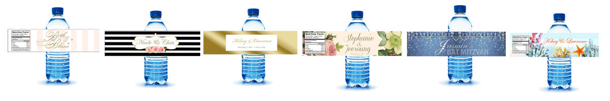 water bottle labels by BestWelcomeBags