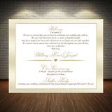 wedding welcome note thank you invite in any color