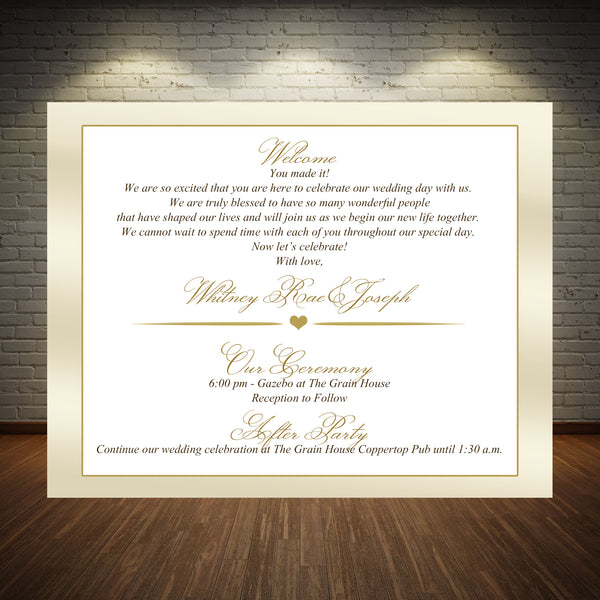 (sku226) Choose your color custom flat note card | wedding welcome note | invitation - Best Welcome Bags
