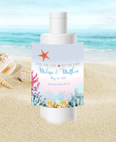 (sku411b) Custom ocean coral travel size sunscreen label | Best Welcome Bags