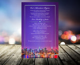 (sku512) New York printed stationery | 4 design options | wedding itinerary | party invitation