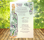(sku489) Winery printed stationery | wedding itinerary | reception or party invitation - Best Welcome Bags