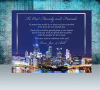 (sku564a) Pittsburgh wedding | printed note card | party invitation | welcome note - Best Welcome Bags