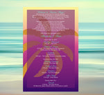 (sku455) printed stationery | sunset palm tree | wedding itinerary | beach party invitation - Best Welcome Bags