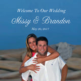 Custom photo welcome bag labels