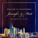 Atlanta wedding welcome bag labels | gable box stickers