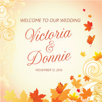autumn fall wedding welcome bag label