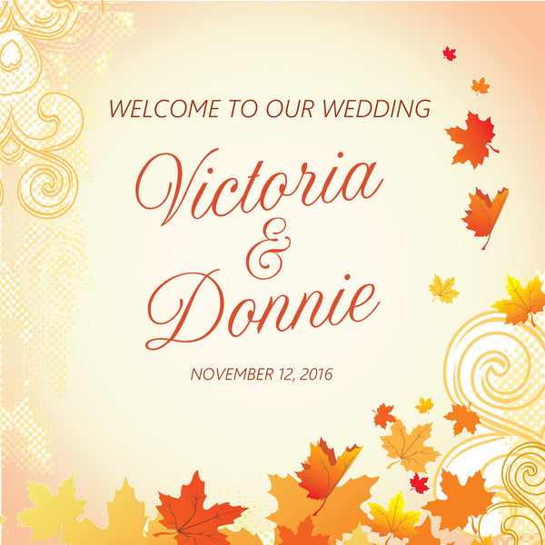 (sku350) Autumn leaf | welcome bag labels | Gable box stickers | fall wedding - Best Welcome Bags