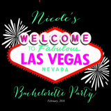 Las Vegas Bachelorette or Hen party welcome bag label