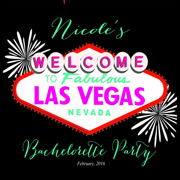 (sku539) Las Vegas labels | bachelorette party bag stickers | Vegas birthday favor bag - Best Welcome Bags