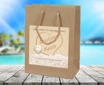 (sku401) writing in sand | Kraft Wedding Welcome Bag | beach destination | hotel guest gift - Best Welcome Bags