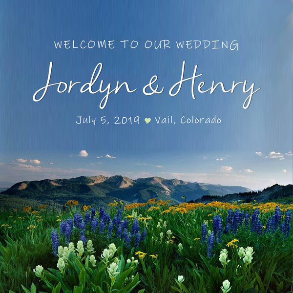 (sku502) Rocky Mountain Wedding | Colorado Welcome Bag labels | Gable box stickers - Best Welcome Bags