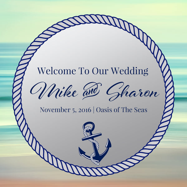 (sku480) Ocean cruise ship | wedding welcome bag label | Nautical gable box sticker - Best Welcome Bags
