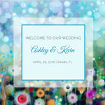(sku080) Wildflower Wedding Welcome Bag label | floral hotel guest goody bag sticker - Best Welcome Bags
