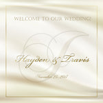 (sku230) ivory monogram wedding welcome bag labels | Gable box stickers - Best Welcome Bags