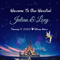 (sku621) Disney Castle | Wedding Welcome Bag labels | Gable box stickers - Best Welcome Bags