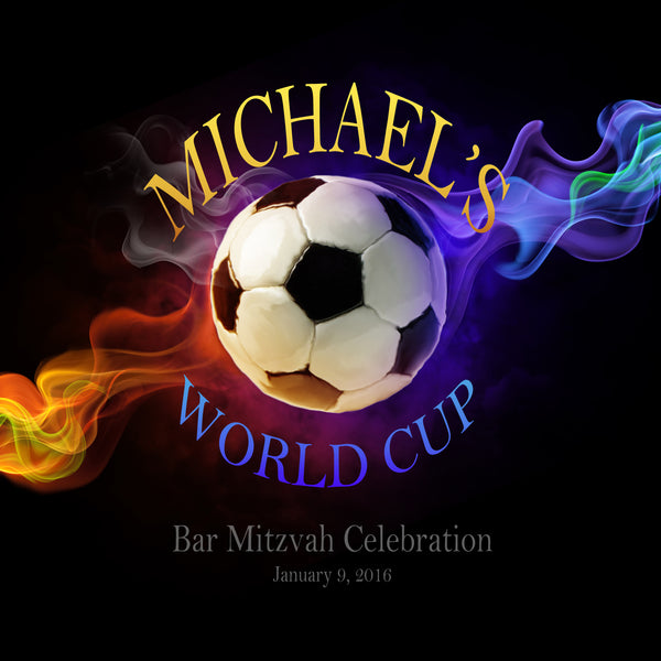 personalized soccer welcome bag label 4 birthday bar mitzvah