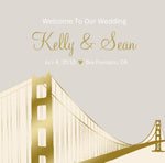 (sku491) San Francisco Wedding Welcome Bag labels | Gable box stickers | Hotel gift bags - Best Welcome Bags