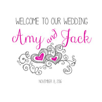 (sku056) Chalkboard wedding welcome bag labels | Gable box stickers | hotel bag label