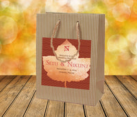 Fall wedding welcome bag | Maple leaf hotel guest hospitality bag