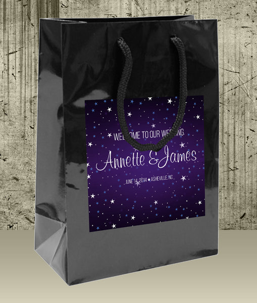 Personalized starry night Wedding Welcome Bag