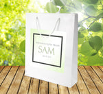 bar mitzvah personalized labeled bag for favor hotel welcome bag