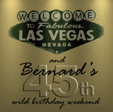 (sku532) Gold or Silver Las Vegas Welcome Bag labels | Gable box stickers