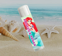 (sku659a) Disney's Ariel | lip balm label | Chapstick favor - Best Welcome Bags