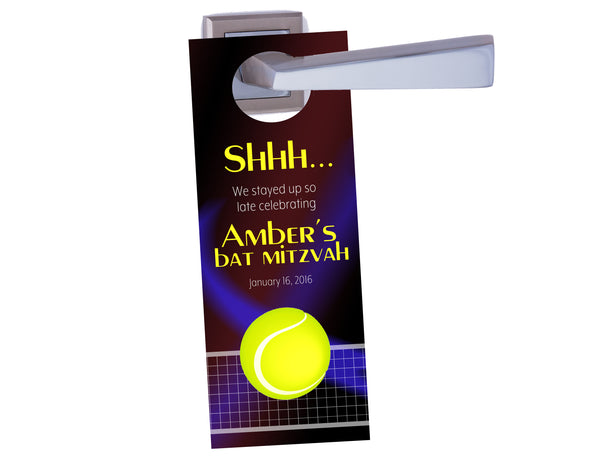 (sku704) tennis party | do not disturb door hanger | party favor | hotel door sign - Best Welcome Bags