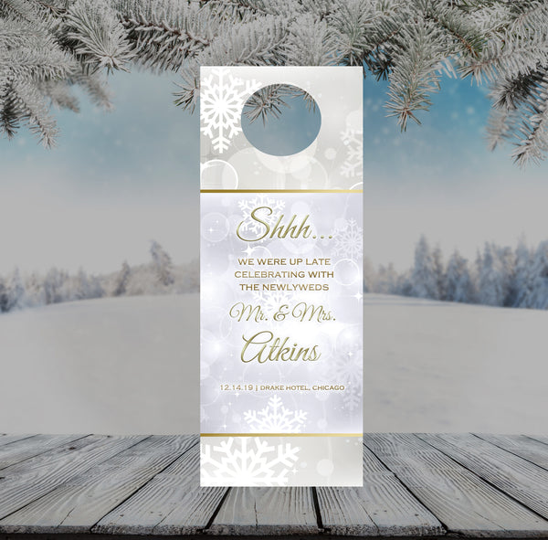 (sku370) winter event | Do not disturb signs | wedding door hanger | winter party favor - Best Welcome Bags