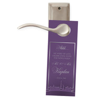 choose color Las Vegas do not disturb wedding door hanger