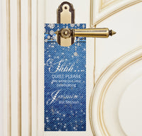 Denim n Diamonds do not disturb door hanger 4 bat mitzvah favor