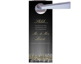 (sku511) New York City wedding | Do not disturb sign | door hangers | party favors - Best Welcome Bags