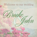 pink n sage floral wedding welcome bag label 4 hotel guest gift