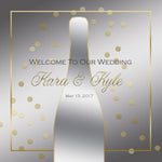 (sku040) Custom silver and gold wedding welcome bag label | gable box sticker - Best Welcome Bags