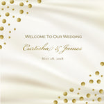 (sku180) gold dot | wedding welcome bag label | Hotel wedding guest gift bag sticker - Best Welcome Bags