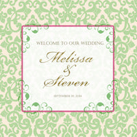 pale green plus your color custom welcome bag label