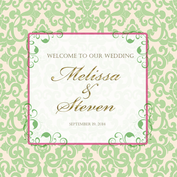 (sku153a) Custom pale green sage Welcome Bag labels | Gable box stickers - Best Welcome Bags