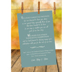 rustic sage wedding itinerary ceremony program reception menu