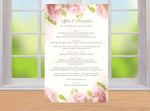 Soft blush roses custom wedding stationary