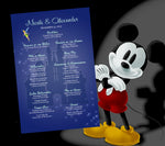 Tinkerbell n Disney castle wedding itinerary ceremony program