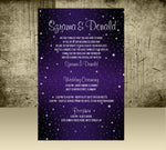 starry night birthday or wedding printed stationary