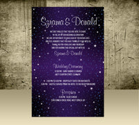 (sku274d) Printed starry night stationery | wedding itinerary | birthday invitation - Best Welcome Bags