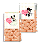 Mickey and Minnie TicTac mint container label 4 party favor
