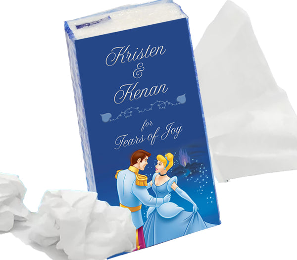 (sku605) Cinderella Wedding | pocket tissue label | Kleenex sticker | Happy tears - Best Welcome Bags