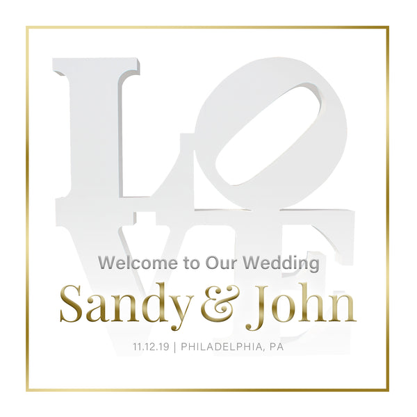 (sku569) Love label | Philadelphia Wedding | Welcome Bag labels | Gable box stickers - Best Welcome Bags