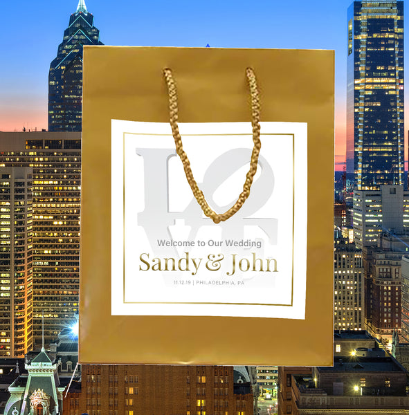 (sku570) Philadelphia Wedding | Love Welcome Bags | hotel guest gift bags | party favor bag - Best Welcome Bags