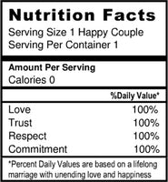 novelty nutrition label by Best Welcome Bags