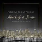 (sku509) New York City Wedding | Welcome Bag labels | Gable box stickers | 4 choices - Best Welcome Bags