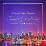(sku509) New York City Wedding | Welcome Bag labels | Gable box stickers | 4 choices